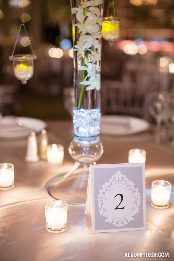 elegant table number