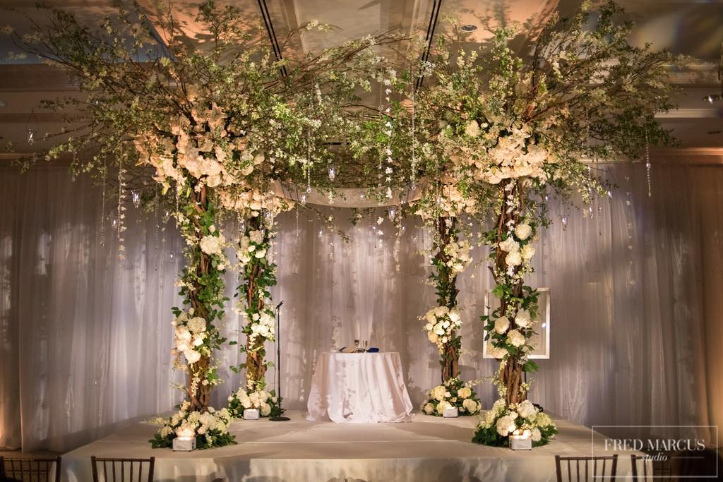 exquisite wedding chuppa