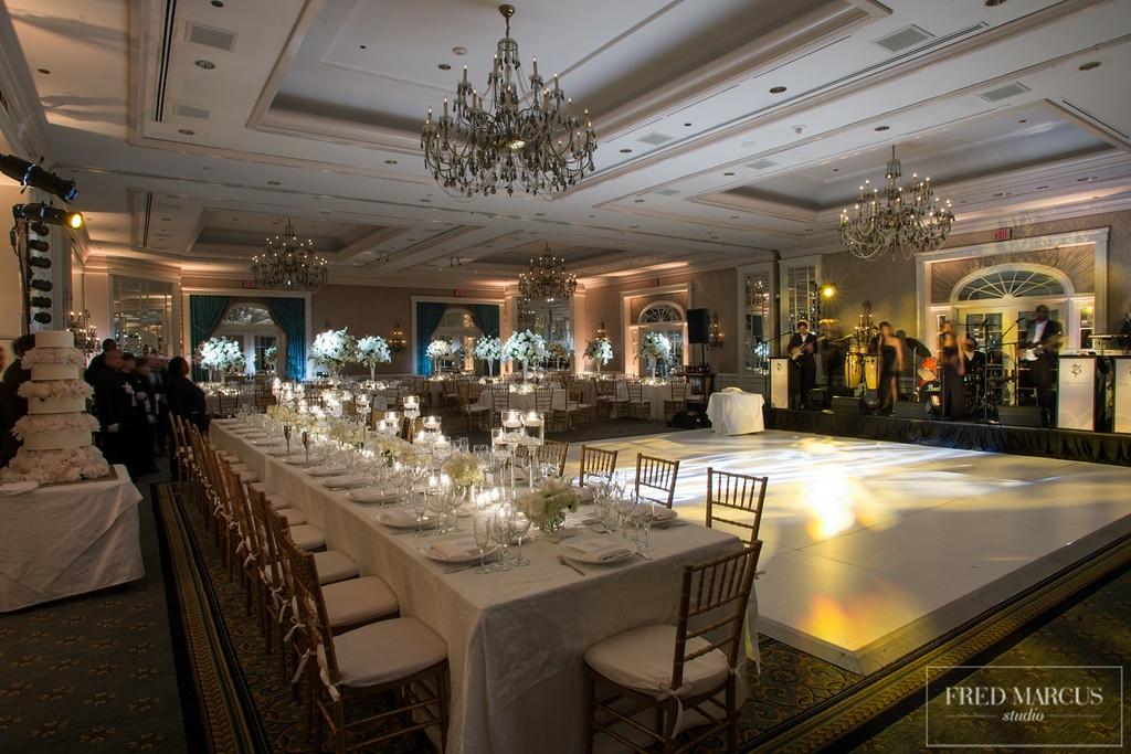 wedding white dance floor